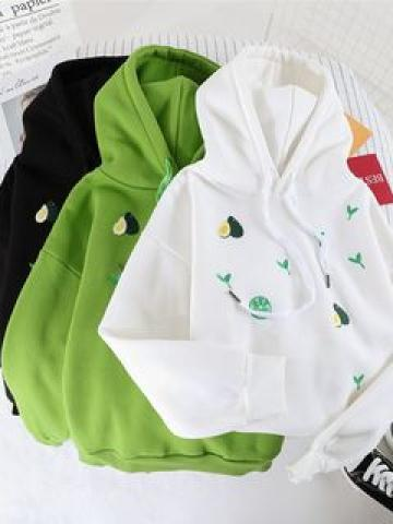 Avocado Embroidered Hoodie