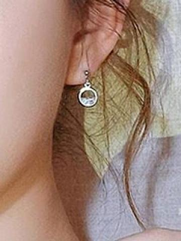 Circle Drop Earring As Shown In Figure - One Size
