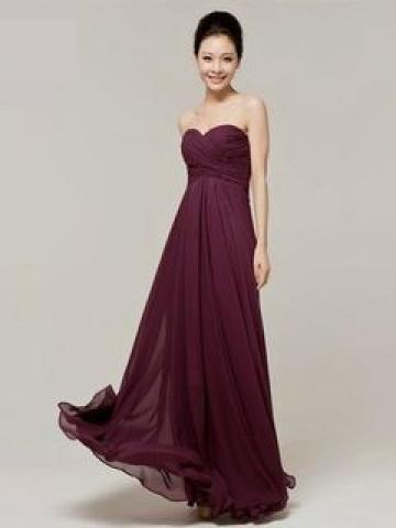 Strapless Chiffon Evening Gown
